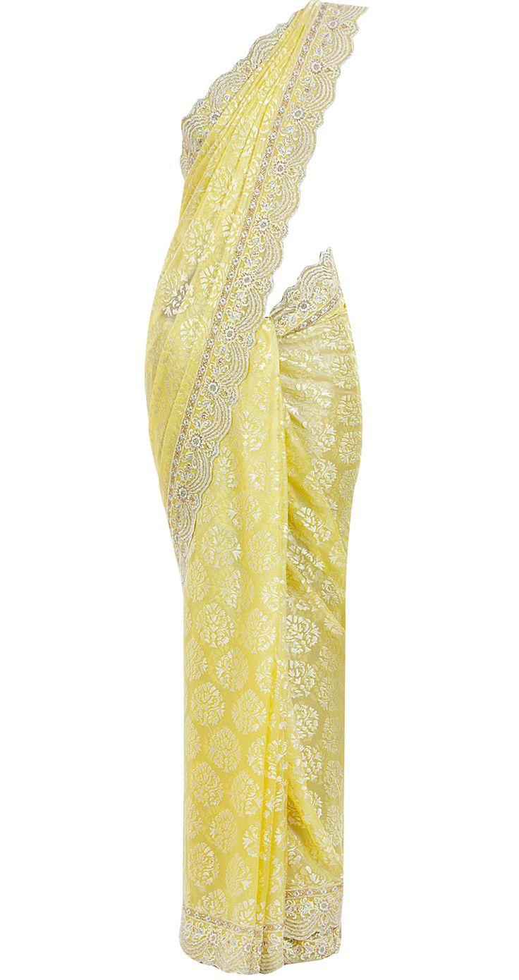 Yellow. #indianoutfit #sari