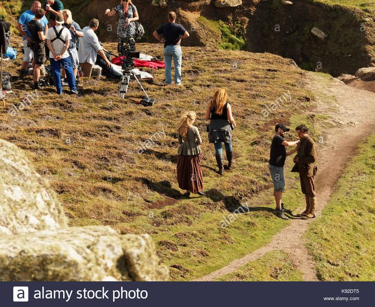 Download this stock image: Poldark location filming for series 4 2018 Porthgwarra cove, 18th September, 2017, Cornwall, UK. - K92DT5 from Alamy's library of millions of high resolution stock photos, illustrations and vectors.