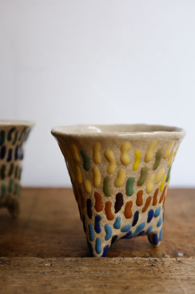 Image of 2 ceramic cups by Japanese cermic artist Miyachi