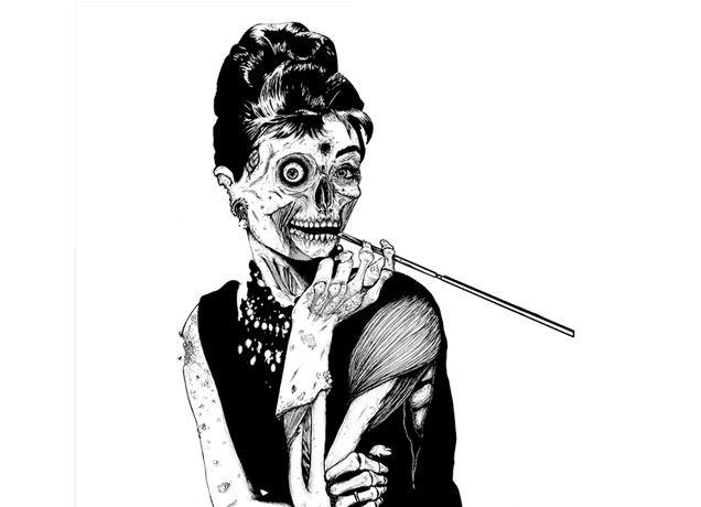 """""""Zombie at Tiffany's"""" - Threadless.com - Best t-shirts in the world"""