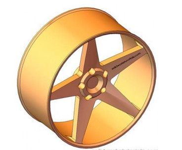 17 Rim Racing Wheel 3D 3Ds - 3D Model