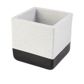 Dipped Cube Pot - Black