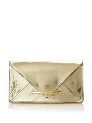 Z Spoke by Zac Posen Women's Marlene Oversized Clutch (Gold)