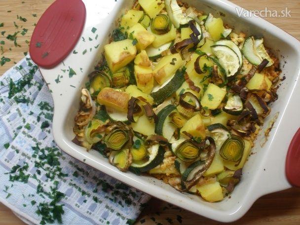 Zapekané zemiaky s tvarohom a zeleninou - Recept