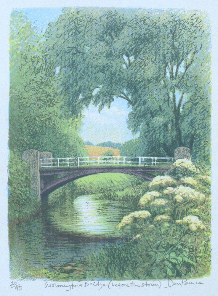 """""""Wormingford Bridge (after the storm)"""" 24x33cms €45"""