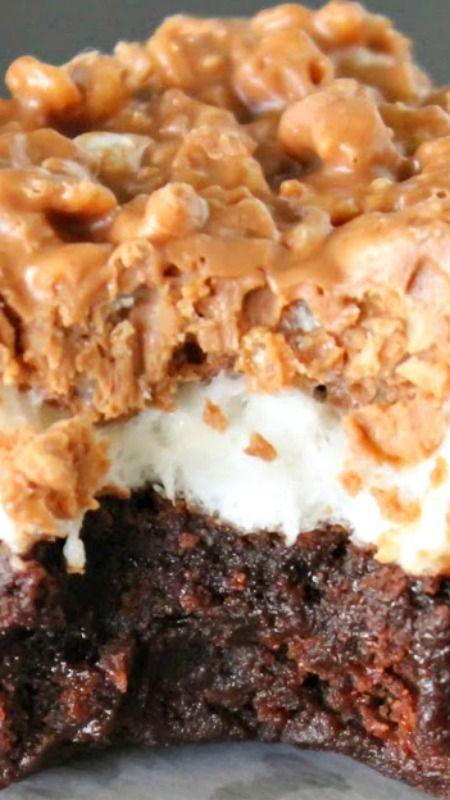 Marshmallow Crunch Brownies Recipe