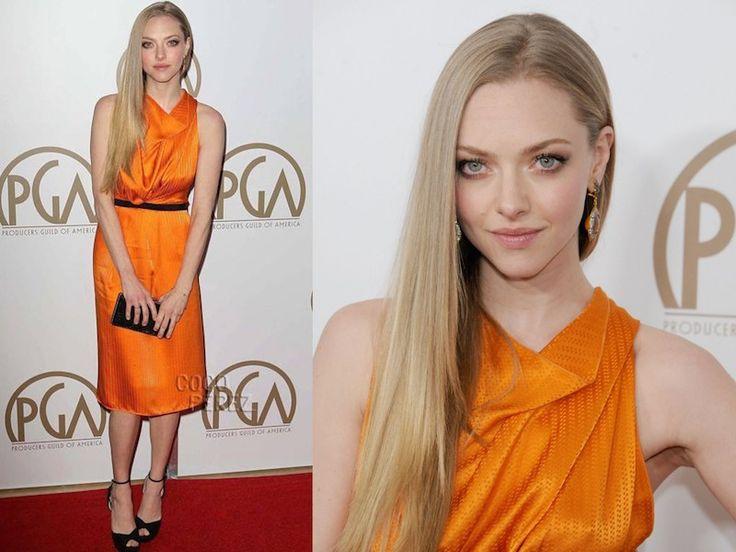 ClioMakeUp-trucco-vestito-abito-arancione-arancio-aranciato-abbinare-ombretto-rossetto-amanda-seyfried