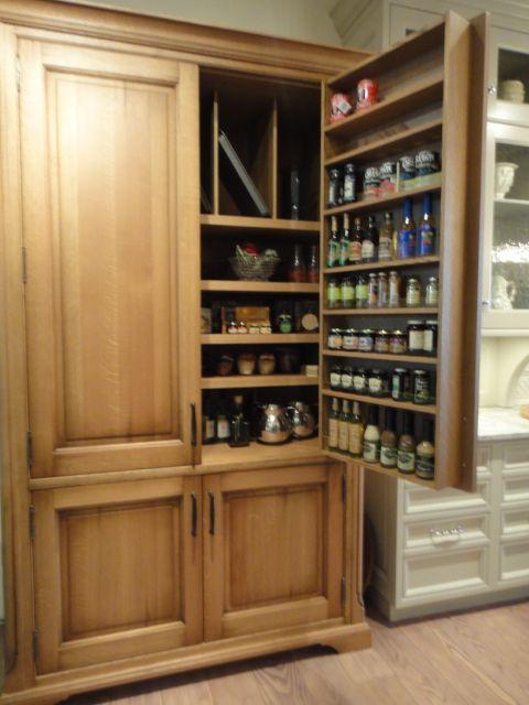 Stanford Armoire White Oak Kitchen Pantry Door Storage