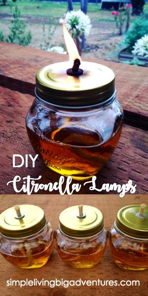Create your own maison jar citronella lamp and banish mozzies and bugs this summer