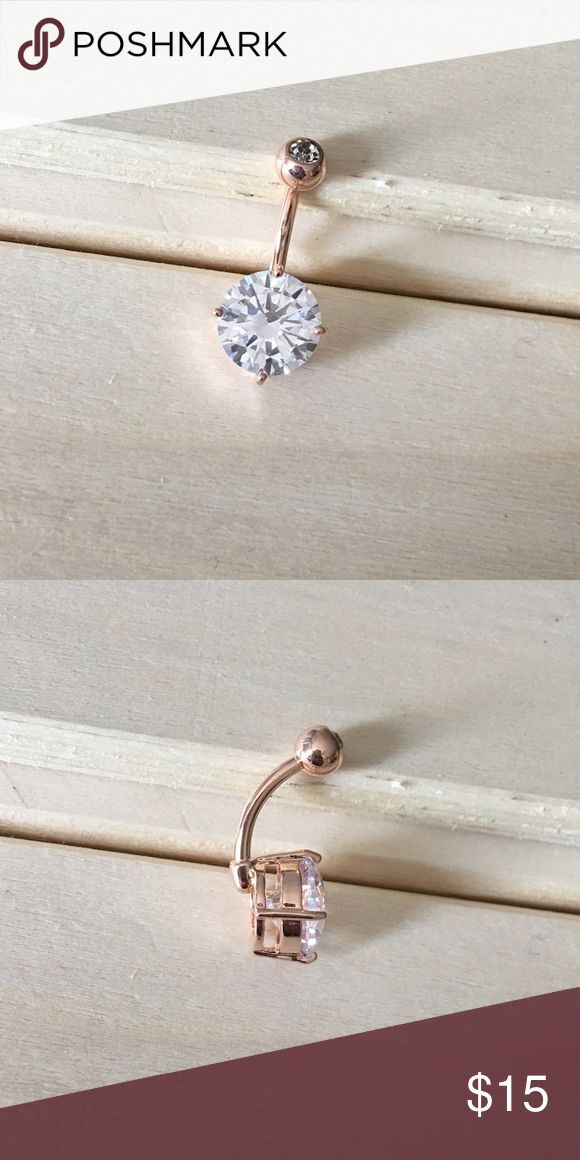 Rose Gold Gem Bauchnabel Ring Zustand: Brandneu Metall: Vergoldet Surgica …   – Beautiful Jewelry