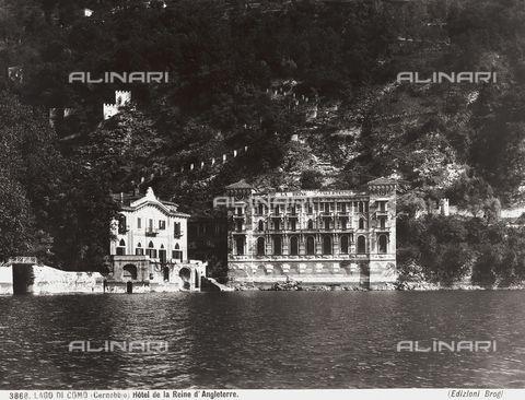 Hotel de la Reine d'Angleterre sul lago di Como, a Cernobbio. Brogi, 1900 ca. Archivio Alinari-Archivio Brogi, Firenze