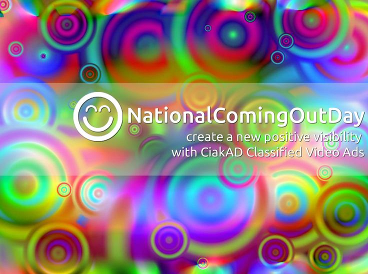"""#Happy #nationalcomingoutday !  #Create a new positive #visibility with #Classified #Video #Ads This work, """"Happy National Coming Out Day"""", is a derivative of """"Circles"""" by Alex Gorzen, used under CC BY. """"Happy National Coming Out Day"""" is licensed under CC BY.  by #CiakAD.com"""