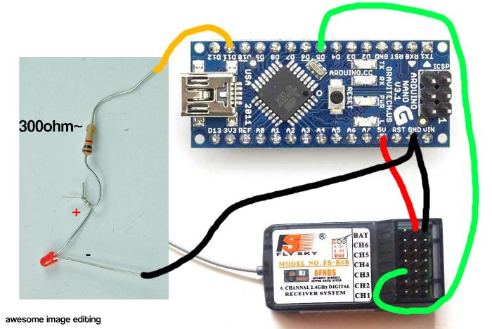 Arduino - PPM RC Receiver to PWM output | Arduino in 2019