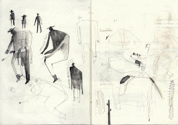 Sketches by Efealcuadrado illustrations, via Behance
