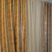 Купить или заказать шторы блэкаут рогожка кремовая на люверсах в интернет магазине на Ярмарке Мастеров. С доставкой по России и СНГ. Материалы: полиэстер, блекаут, blackout, рогожка. Размер: 2 шт 265 (высота,…