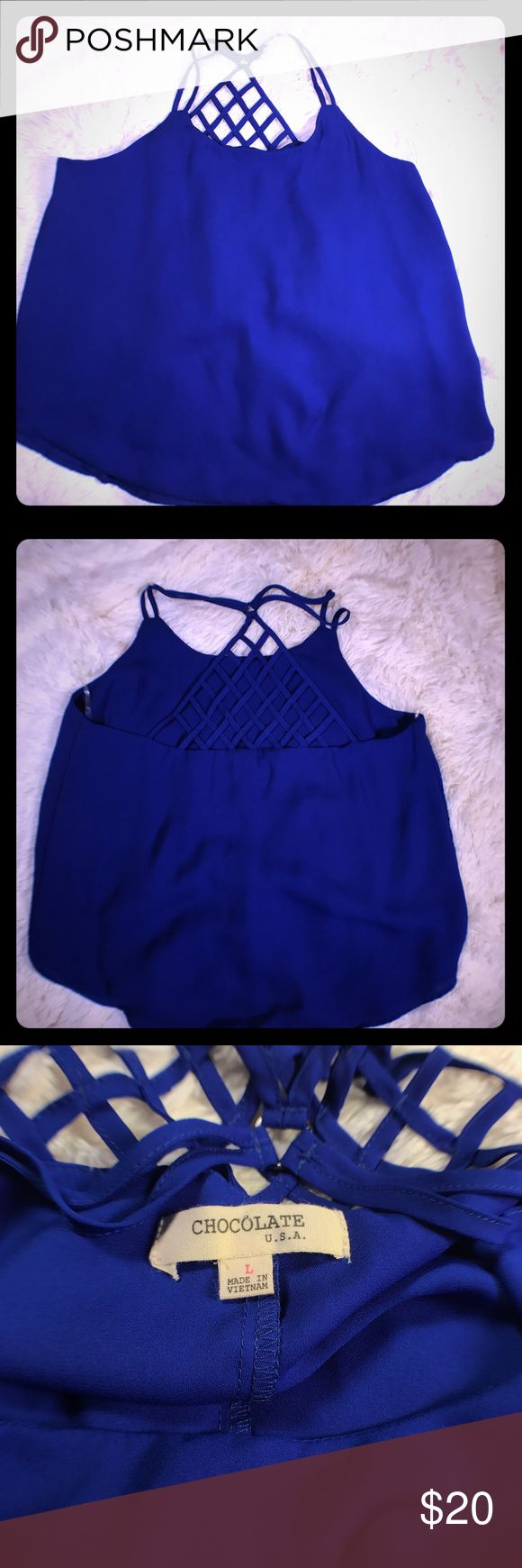 BLUE CAMI SIZE LARGE. NWOT ROYAL BLUE CAMI SIZE LARGE. NWOT 💥No other discounts given. PRICE IS FIRM💥💥 Tops Camisoles