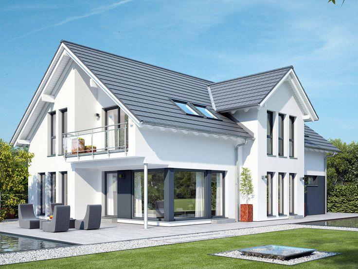 Bien-Zenker - Zweifamilienhaus Celebration 211 V2 • Großzügiges Einfamilienhaus mit Satteldach-Zwerchgiebel und Balkon • Traumhauskataloge bestellen • Kontakt aufnehmen!