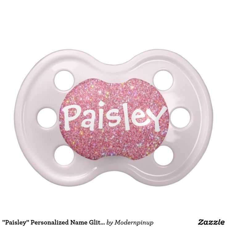 Paisley Personalized Name Glitter Pacifier