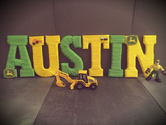 John Deere Decor Name Letters John Deere by TightlyWoundDesigns