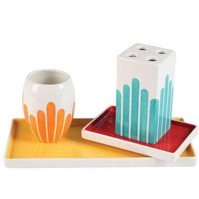Conjunto elegante y chic ba o cer mica vasijas potes - Juego para hacer ceramica ...