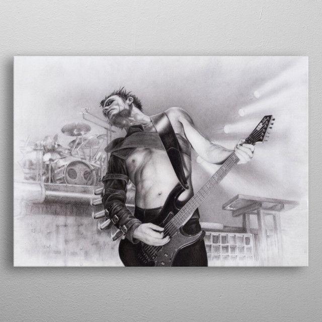 Rammstein Richard Z Kruspe Metal Poster Sylvain Nadeau Displate Rammstein Metal Posters Sale Artwork
