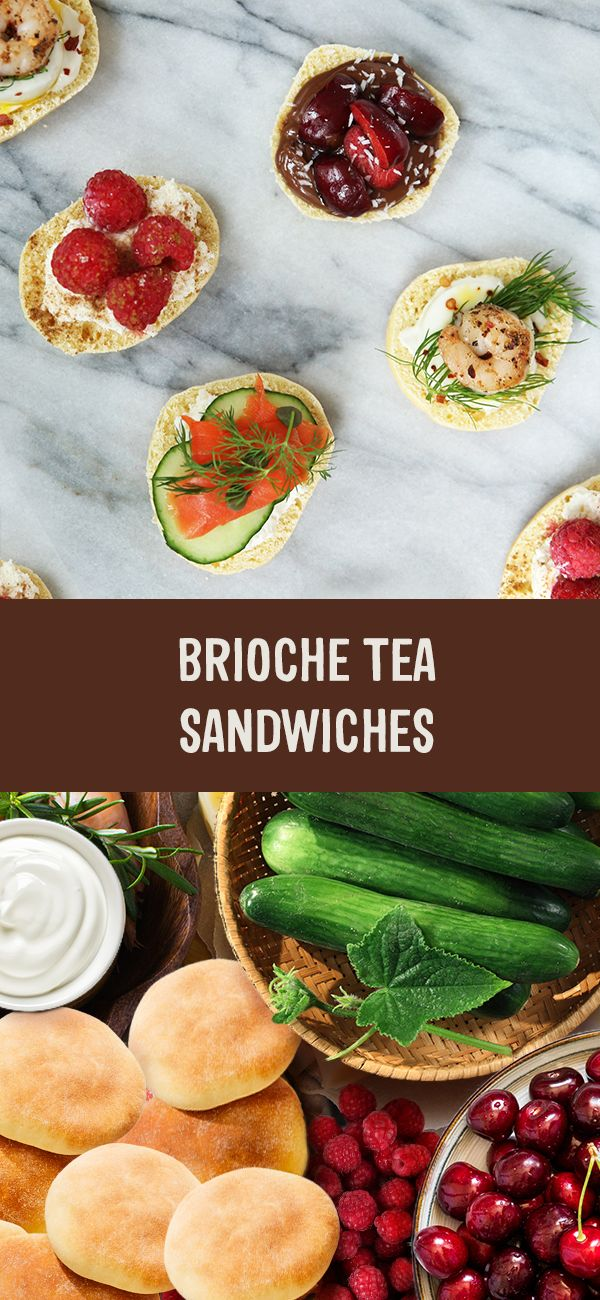 Pack your picnic basket and head to the park for some afternoon tea. Check out our sweet and savoury Brioche Tea Sandwich selection for some inspiration:   The Classic Bite - Cream cheese, cucumber, smoked salmon, capers and dill The Eggsquiste Bite - Mayonnaise, hard-boiled egg, chili pepper, dill and shrimp The Choco-Coco-Cherry Bite - Nutella, sliced cherries and coconut shavings The Sweet Dream Bite - Cream cheese, raspberries and cinnamon