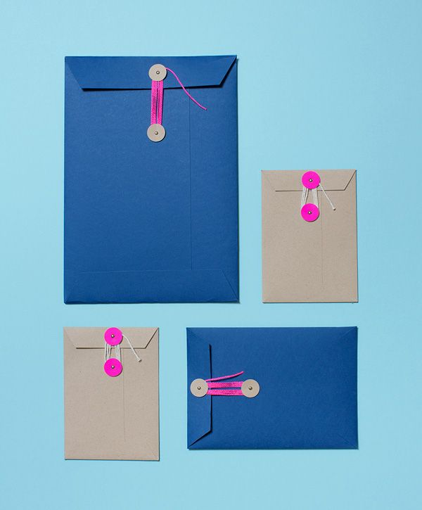Handmade envelopes with sweet string ties by Lulu Lucky. Photos - Sean Fennessy, styling - Jess Lillico.