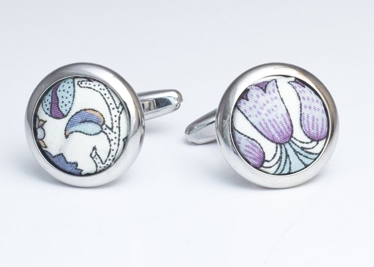 Sage Liberty 'Lodden' Fabric Cufflinks from £16.50  with 20% discount when you buy 5 or more. Tel: 0117 9737461 or book an appointment online at www.menshire.co.uk