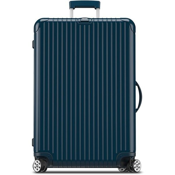 """Rimowa Salsa Deluxe 29"""" Spinner Suitcase (€685) ❤ liked on Polyvore featuring men's fashion, men's bags, mens suitcase, mens travel bag, mens bag and mens travel suitcase"""