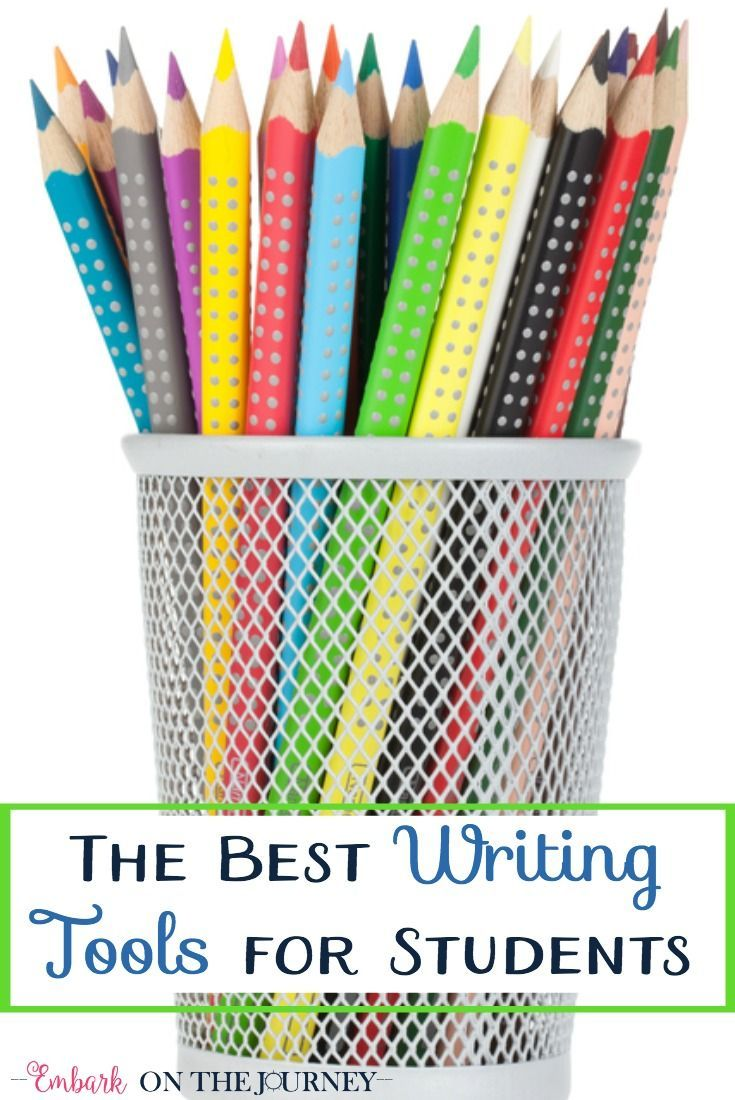 Your budding writer needs these writing tools on his or her desk!   embarkonthejourney.com