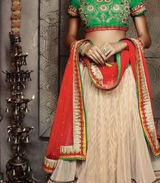 Buy chiku embroidered Net unstitched bridal-lehengas Online