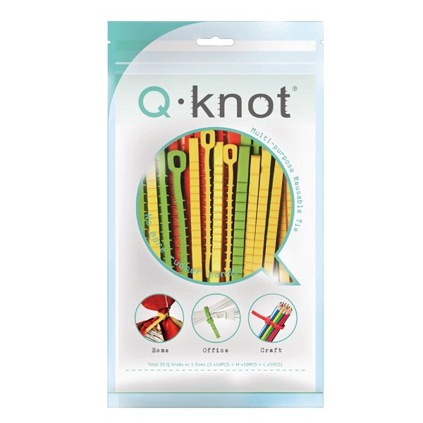 The Container Store > Q Knot® Multi-Purpose Reusable Ties