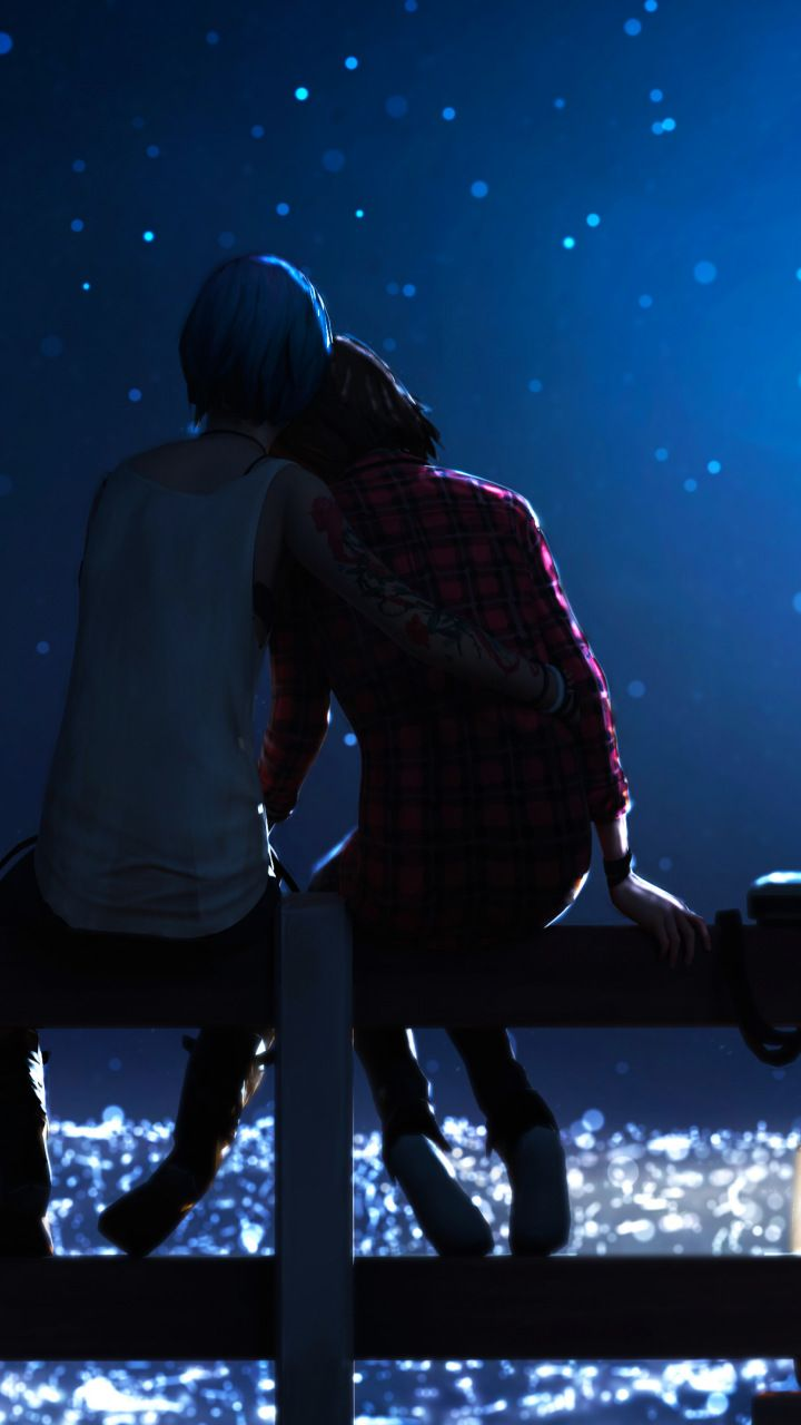Outdoor Night Couple Video Game Life Is Strange 720x1280 Wallpaper Life Is Strange Life Is Strange Fanart Life Is Strange Wallpaper