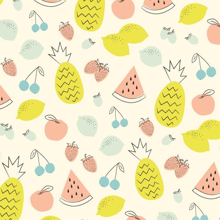 © Eine Kleine Design Studio #surfacedesign #fruit #pattern #illustration