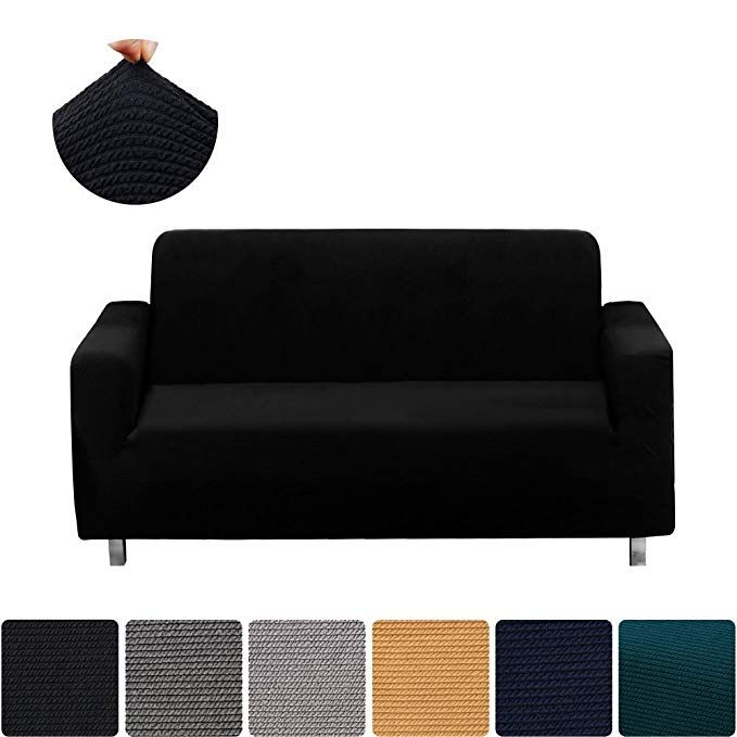 Homaxy Jacquard Stretch Sofa Slipcovers Vintage Thick Stripe