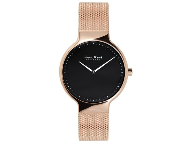 MR103 - Watch In Rose Gold With Rose Gold Mesh Band