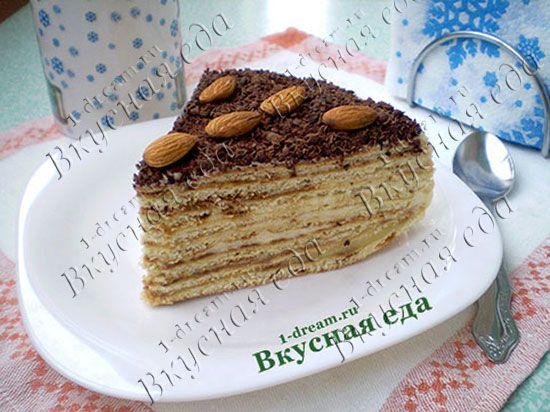 Торт на сковороде - рецепт домашнего торта без выпечки - Вкусная еда
