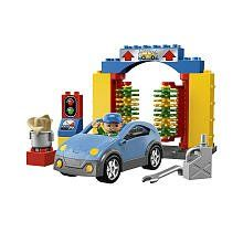 "LEGO Duplo LEGOville Car Wash 5696 by LEGO. $26.25. LEGO Duplo LEGOville Car Wash 5696. LEGO Duplo car and figure included. Spinning brushes, polishing cloth and other accessories .Measures 12"" (30cm) wide and 10"" (25cm)long .Contains 14 pieces ."
