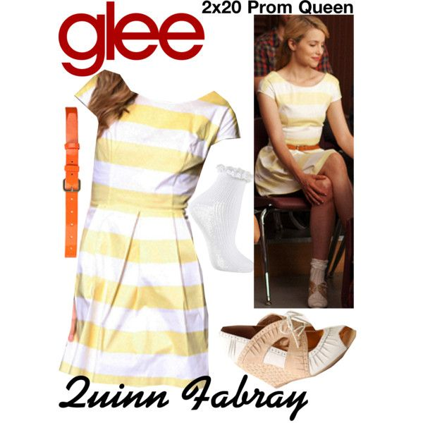 Quinn Fabray (Glee) : 2x20 by aure26 on Polyvore featuring polyvore, fashion, style, Topshop, clothing and glee