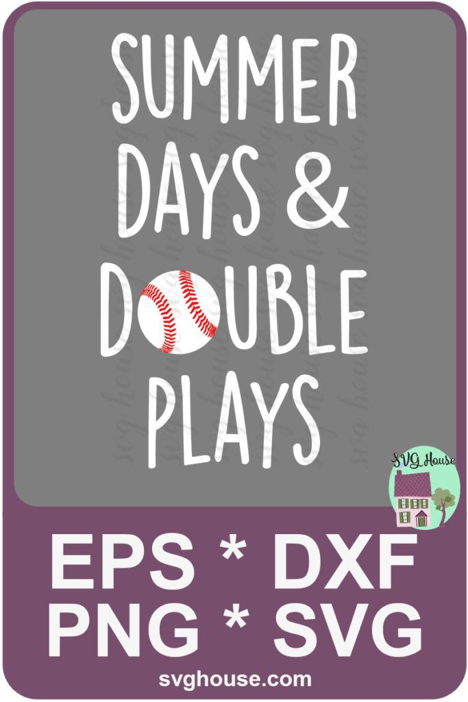 0b38684068c Summer Days And Double Plays SVG - Baseball SVG File Instant Download For  Silhouette SVG   Cricut