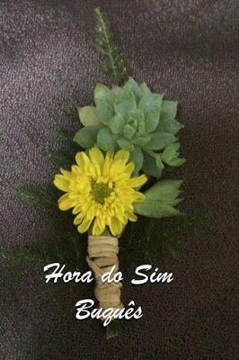 ♥♥Hora do Sim Buquês♥♥: ♥Flores para Lapelas/Boutonnieres♥