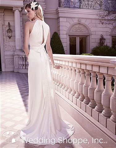 Casablanca  2128 bridal gown with a keyhole back