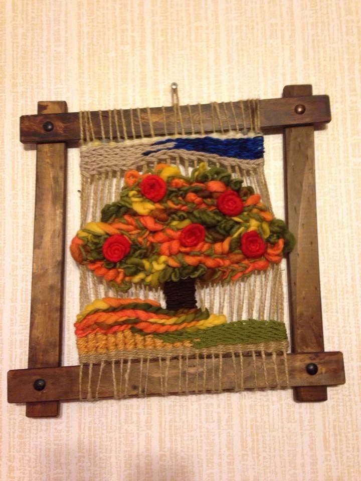 Telares decorativos de arboles buscar con google Marcos para espejos artesanales