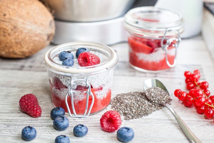 Voor de receptenruil van de maand augustus heb ik gekozen voor de yoghurt chia pudding met rood fruit. Een heerlijk en voedzaam ontbijtje. Enjoy!