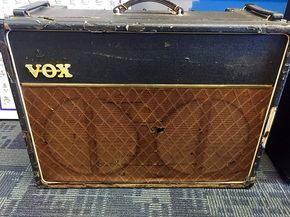 Up for sale is an original 1964 Vox AC30 with stock Vox Blue Back speakers. Recently recapped and serviced, this behemoth is ready for any stage but has been used strictly as a studio amp for the last few years.This item is being sold by Bang! Music, Inc. located in Stafford, VA where we have bee...