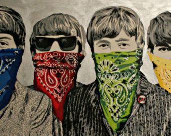 BANKSY Canvas Bandits Banditos Bandanas Banksy Graffiti Wall Art  Print Gallery Wrapped