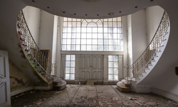 Abandoned mansion on Billionaires' Row, Bishops Avenue, London.