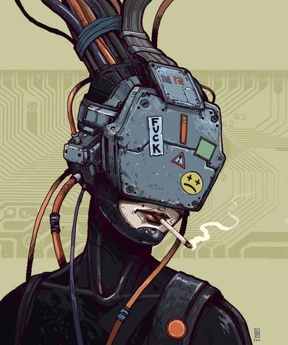 Image result for cyberpunk anime characters