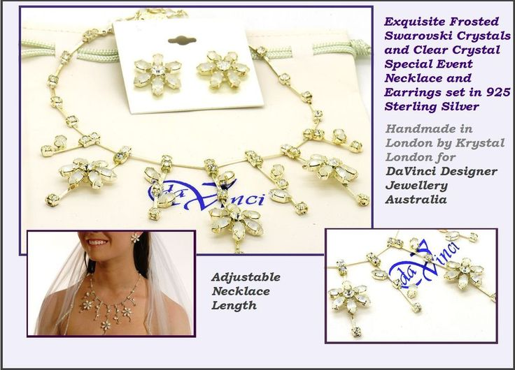 Sterling Silver and Swarovski Crystal Wedding Jewellery Bridal Jewelry sets