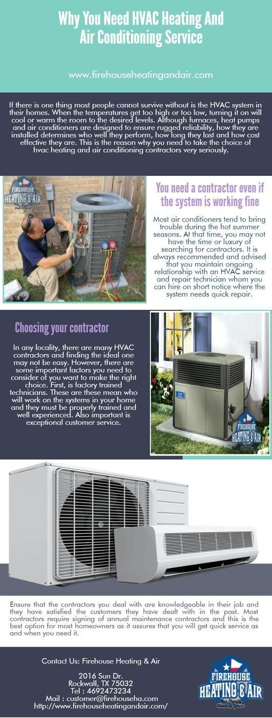 If you want to HVAC repair service then Firehouse Heating and Air increase the lifespan of your system and also reduces the electric consumption. It is a reputable company that has expert professionals to fix your HVAC system at affordable prices. For more details, visit us: http://www.firehouseheatingandair.com/ac-installation-repair-services.php